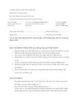 Đề thi Pháp Luật Đại Cương ĐHBKHN K60 có lời giải gợi ý
