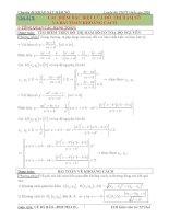 Các điểm đặc biệt của đồ thị hàm số và bài toán khoảng cách
