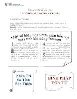 Bộ đề ôn tập môn Tin học cơ bản (Microsoft Word + Excel)
