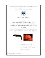Đồ án tốt nghiệp Tìm hiểu quy trình sản xuất và một số biện pháp kiểm soát chất lượng sản phẩm cá Lóc Fillet xông khói