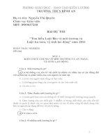câu hỏi thi tìm hiểu luật môi trường có đáp án