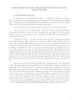 skkn KINH NGHIỆM TỔ CHỨC BỒI DƯỠNG KỸ NĂNG SƯ PHẠM CHO GIÁO VIÊN.