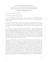 Báo cáo viên đặc biệt về các quyền văn hoá chuyến thăm và làm việc tại việt nam, ngày 18 29112013 các kết luận và khuyến nghị sơ bộ