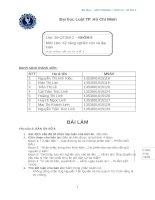 Bài tập Kỷ năng nghiên cứu lập luận 1  DH LUẬT TP. Hồ Chí Minh