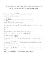 tổng hợp dạng toán về phần cực trị của hàm số và cách giải các phương trình chứa sin cos (có bài giải chi tiết)