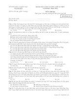 Đề thi Khảo sát chất lượng môn sinh học 12
