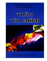 Bài giảng toán tài chính Phần 1  TS. Nguyễn Trung Trực, ThS. Đặng Thị Trường Giang