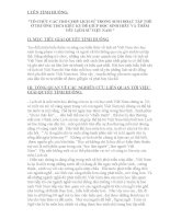 VẬN DỤNG KIẾN THỨC LIÊN môn để GIẢI QUYẾT các TÌNH HUỐNG tổ CHỨC các TRÒ CHƠI LỊCH sử TRONG SINH HOẠT tập THỂ ở TRƯỜNG THCS KIÊU kỵ để GIÚP học SINH HIỂU và THÊM yêu LỊCH sử VIỆT NAM