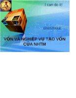Bài giảng Vốn và nghiệp vụ tạo vốn của NHTM