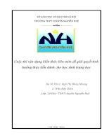 VẬN DỤNG KIẾN THỨC LIÊN môn để GIẢI QUYẾT các TÌNH HUỐNG (ngữ văn 10) những điều cần biết và nhiệm vụ cần có của mỗi người dân đất việt về quần đảo hoàng sa   trường sa, chủ quyền thiêng liêng của tổ quốc