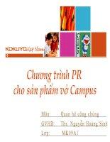 Chương trình PR cho sản phẩm vở campus