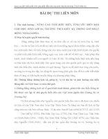VẬN DỤNG KIẾN THỨC LIÊN môn để GIẢI QUYẾT các TÌNH HUỐNG (ngữ văn 8) NÂNG CAO tầm HIỂU BIẾT, TÌNH yêu BIỂN đảo CHO học SINH lớp 8a TRƯỜNG THCS KIÊU kỵ TRONG GIỜ HOẠT ĐỘNG NGOẠI KHÓA