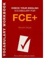 Kiểm tra từ vựng FCE