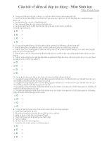 Câu hỏi về đếm số đáp án đúng  Môn Sinh học Thầy Thịnh Nam