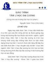 Giáo trình tâm lí học đại cương  Nguyễn Xuân Thức