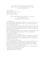 """VẬN DỤNG KIẾN THỨC LIÊN môn để GIẢI QUYẾT các TÌNH HUỐNG (ngữ văn 9) dùng kiến thức liên môn để giải thích câu tục ngữ """"lúa chiêm lấp ló đầu bờ  hễ nghe tiếng sấm phất cờ mà lên"""