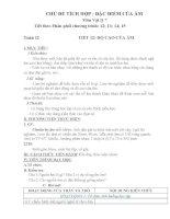 giáo án liên môn tích hợp vật lý 7 chủ đề đặc điểm của âm