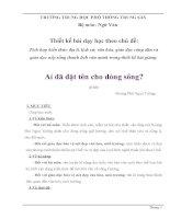 giáo án tích hợp liên môn ngữ văn 12 bài ai đã đặt tên cho dòng sông