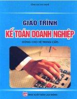 Giáo trình kế toán doanh nghiệp  ThS. Đồng Thị Vân Hồng