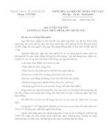 BÀI TUYÊN TRUYỀN VỆ SINH AN TOÀN THỰC PHẨM TẾT TRUNG THU