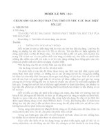 MODULE MN 16  CHĂM SÓC GIÁO DỤC ĐÁP ỨNG TRẺ CÓ NHU CẦU ĐẶC BIỆT