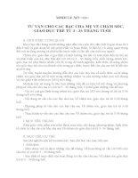 MODULE MN 11 MODULE MN <11>  TƯ VẤN CHO CÁC BẬC CHA MẸ VỀ CHĂM SÓC, GIÁO DỤC TRẺ TỪ 3  36 THÁNG TUỔI