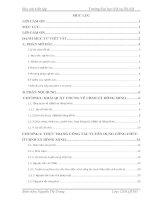 Báo cáo kiến tập quản trị nhân lực: Thực trạng và giải pháp nâng cao hiệu quả công tác tuyển dụng công chức ở xã hồng minh