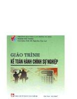 Giáo trình Kế toán hành chính sự nghiệp  PGS.TS. Nghiêm Văn Lợi