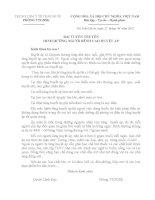 BÀI TUYÊN TRUYỀN DINH DƯỠNG NGƯỜI BÊNH CAO HUYẾT ÁP