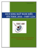 DỊCH SONG NGỮ ETS 2016 PART 1234