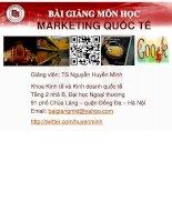 Bài giảng môn học marketing quốc tế