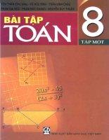 EBOOK bài tập TOÁN 8 tập 1 (PHẦN 1)   tôn THÂN (CHỦ BIÊN)