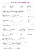 ENGLISH 8 UNIT 6 test and vocabulary exercises