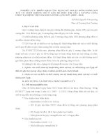 NGHIÊN CỨU TRIỂN KHAI ỨNG DỤNG KỸ THUẬT ĐÓNG ĐINH NỘITUỶ CÓ CHỐT KHÔNG MỞ Ổ GÃY ĐỂ ĐIỀU TRỊ GÃY 2 XƯƠNG CẲNG CHÂN TẠI BỆNH VIỆN ĐA KHOA TỈNH LẠNG SƠN (2009 – 2011)
