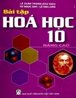EBOOK bài tập hóa học 10 NÂNG CAO   PHẦN 1   lê XUÂN TRỌNG (CHỦ BIÊN)
