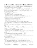130 Câu hỏi thi công chức môn tin học