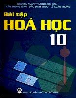 EBOOK bài tập hóa học 10   PHẦN 1   NGUYỄN XUÂN TRƯỜNG (CHỦ BIÊN)