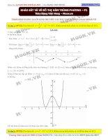 Khảo sát hàm số trùng phương phần 2 đoàn việt hùng