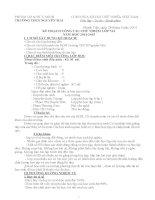 Kế hoạch chủ nhiệm lớp ( sổ chủ nhiệm)