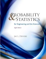 Probability and Statistics for Engineering and the Sciences (Solutions Manual), 8th Edition  Jay L. Devore