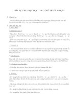 Bài dự thi kiến thức liên môn tổ toán