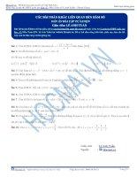 Các bài toán khác liên quan đến tiếp tuyến hàm số