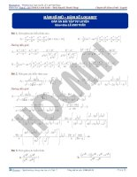 Bài tập về hàm số mũ và logarit