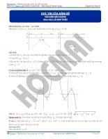 Bài toán cực trị hàm số