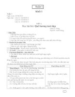 Giáo án âm nhạc tiểu học VNEN tuần 1