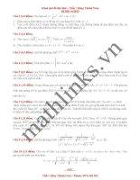Đề thi thử toán thầy đặng thành nam_đề số 4
