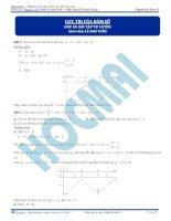 Bài tập về cực trị hàm số