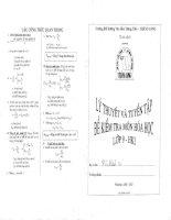 Lý thuyết và tuyển tập đề kiểm tra môn hóa học lớp 9 học kỳ 1 năm học 2016 thăng long thăng tiến