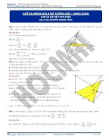 Bài tập về quan hệ vuông góc song song trong hình không gian