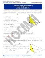 Bài tập tính khoảng cách từ điểm tới mặt phẳng